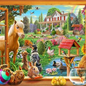 Gallery 6 - Animals in the garden 300 XL Piece Puzzle - Holdson