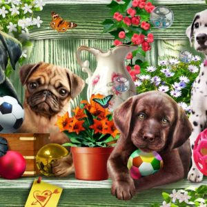 Gallery 6 - Shelf Puppies 300 XL Piece Puzzle - Holdson