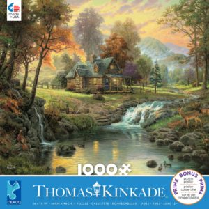Thomas Kinkade - Mountain Retreat 1000 Piece Puzzle - Ceaco