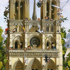 Vive Notre Dame!She almost fell victim to the flames, but fortunately in Loup's cartoon classic, the splendid church in Paris is still intact