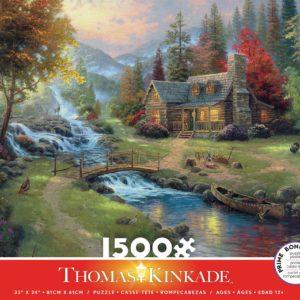 Thomas Kinkade - Mountain Paradise 1500 Piece Puzzle - Ceaco