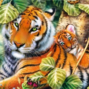 Two Tigers 1500 Piece Puzzle - Trefl