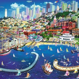 San Francisco Bay 2000 Piece Puzzle - Tref