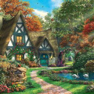 Cottage in Autumn 500 Piece Jigsaw Puzzle - Ravensburger
