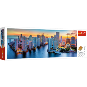 Miami After Dark 1000 Piece Panorama Puzzle - Trefl