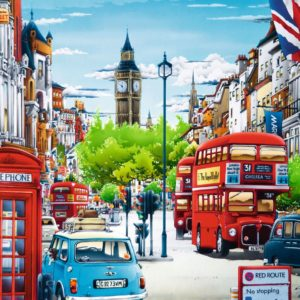 London Street 1000 Piece Puzzle - Trefl