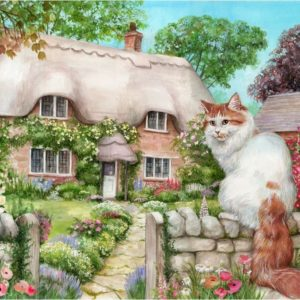 Cottage Cats - Master of all he Surveys! 500 XL Piece Puzzle - Holdson