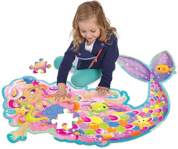 Floor Puzzle - Shimmery Magical Mermaid - Peaceable Kingdom