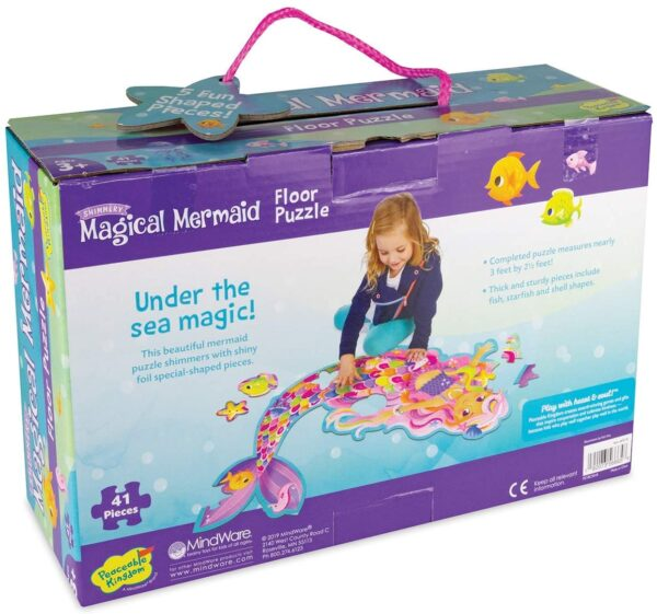 Floor Puzzle - Shimmery Magical Mermaid -Peaceable Kingdom