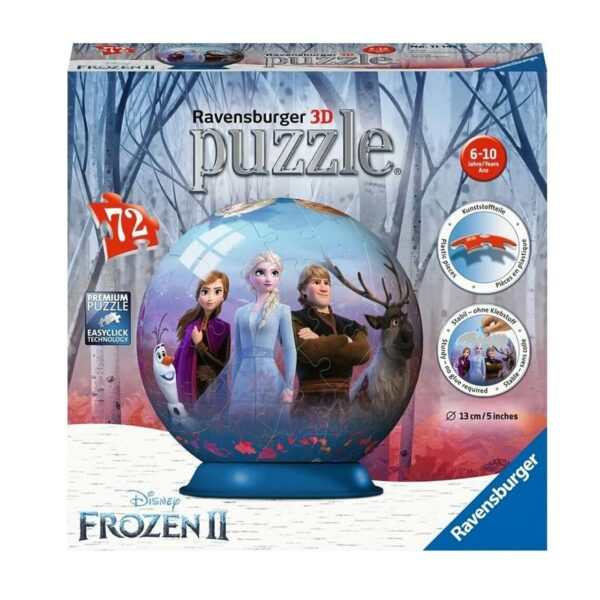 Disney Frozen 2 3D Jigsaw PuzzleBall 72 Piece - Ravensburger
