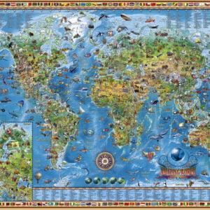 Map Art - Amazing World 2000 Piece Puzzle - Heye