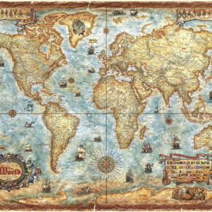 Map Art - The World 2000 Piece Jigsaw Puzzle - Heye