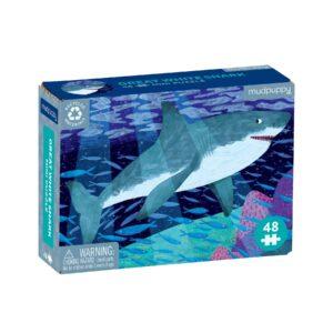 Mini Puzzle - Great White Shark 48 Piece - Mudpuppy