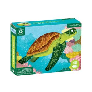 Mini Puzzle - Green Sea Turtle 48 Piece Puzzle - Mudpuppy