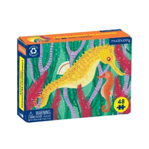 Mini Puzzle - Long Snout Sea Horse 48 Piece - Mudpuppy