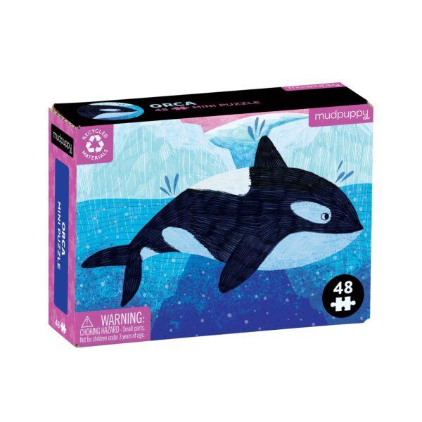 Mini Puzzle - Orca 48 Piece - Mudpuppy