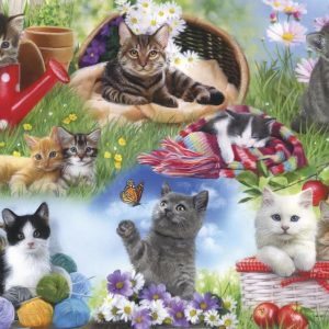 Piecing Together - Cats 12 EXTRA Large Piece Puzzle - Gibsons