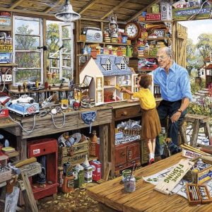 Piecing Together - Grandad's Workshop 40 Extra Large Piece Puzzle - Gibsons