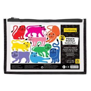 Pouch Puzzle - Rainbow Roar 12 Piece - Mudpupp