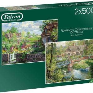 Romantic Countryside Cottages 2 x 500 Piece Puzzle - Falcon de luxe