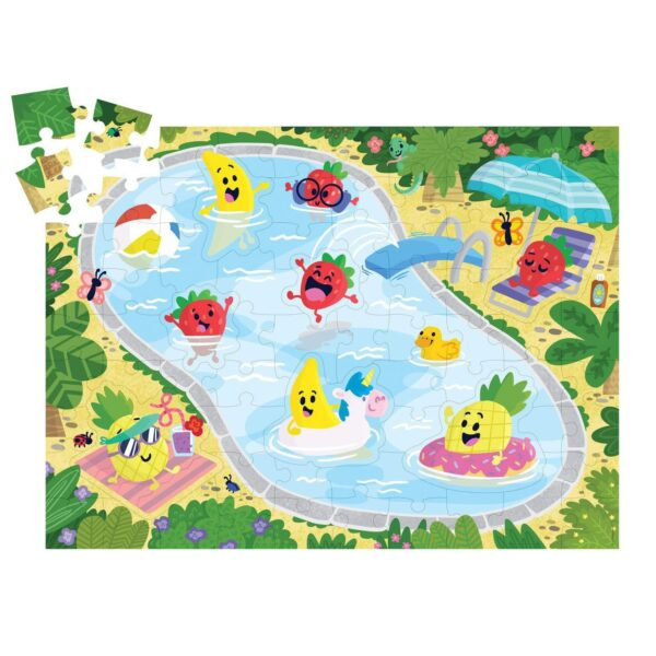 Scratch & Sniff Puzzle - Fruity Pool Party - Peaceable Kingdom