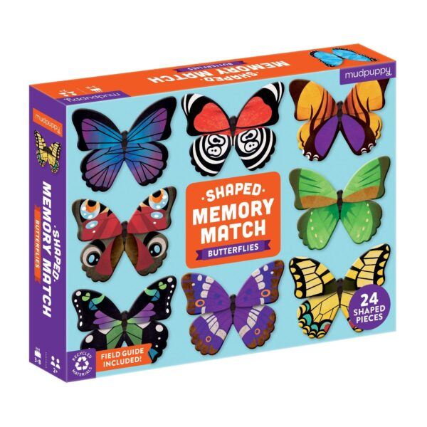 Shaped Memory Match Butterflies - Mudpuppy