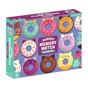 Shaped Memory Match Cat Donuts - Mudpuppy