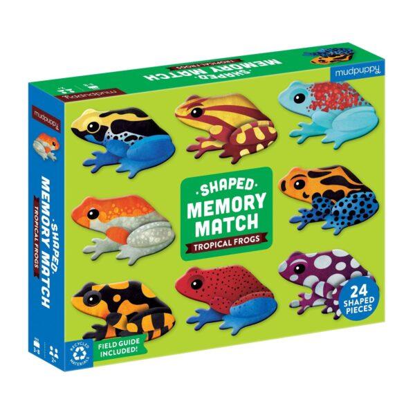 Shaped Memory Match Tropical Frogs - Mudpuppy