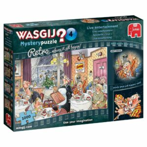 Wasgij Mystery Retro 4 - Live Entertainment 1000 Piece Puzzle - Jumbo
