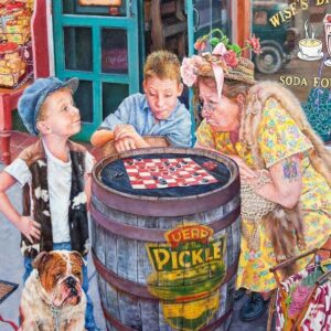 What's She Thinking - Sidewalk Checkers - Holdson