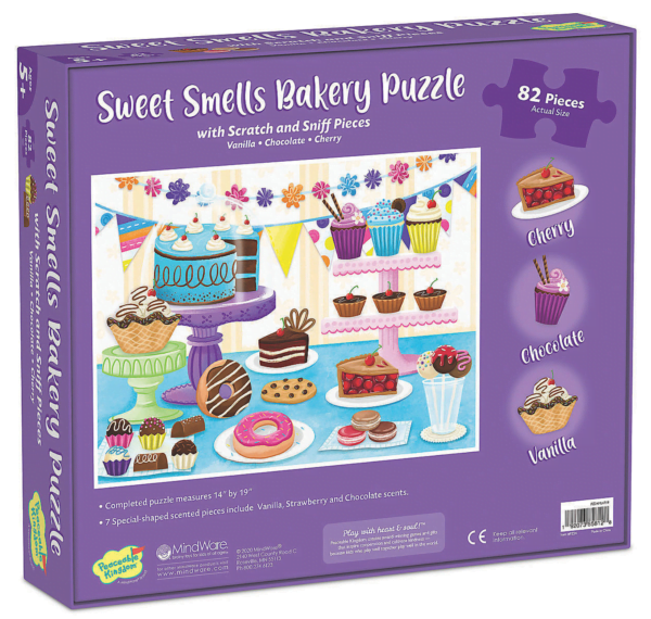 Scratch and Sniff Puzzle - Sweet Smells Bakery Puzzle - Peaceable Kingdom