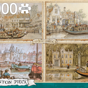 Anton Pieck - Canal Boats 1000 Piece Jigsaw Puzzle - Jumbo