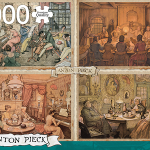 Anton Pieck - Living Room Entertainment 1000 Piece Jigsaw Puzzle - Jumbo