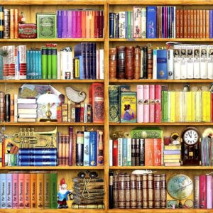 Bookshelves 1000 Piece Jigsaw Puzzle - Anatolian