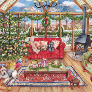 Christmas Conservatory 1000 Piece Jigsaw Puzzle - Falcon de luxe