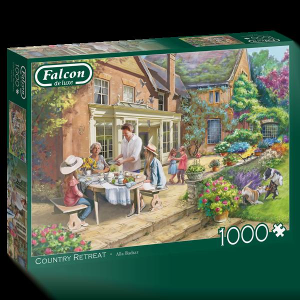 Country Retreat 1000 Piece Jigsaw Puzzle - Falcon de luxe