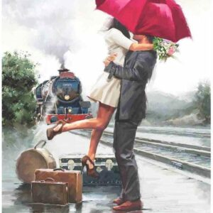 Couple on Train Station 500 Piece Jigsaw Puzzle - Anatolian