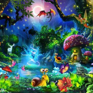 Fantasy Forest 1000 Piece Jigsaw Puzzle - Funbox
