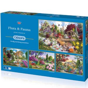 Flora & Fauna 4 x 500 Piece Puzzle - Gibsons
