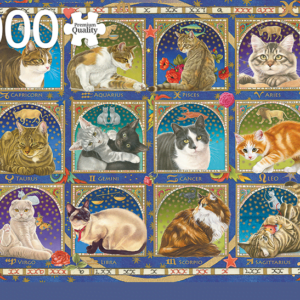 Francien Cat Horoscope 1000 Piece Jigsaw Puzzle - Jumbo