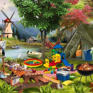 Holiday Days-Camping 1000 Piece Jigsaw Puzzle - Funbox