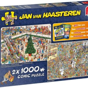 JVH Holiday Shopping 2 x 1000 Piece Jigsaw Puzzle - Jumbo