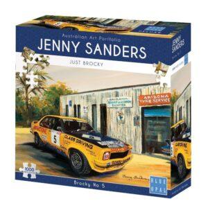 Jenny Sanders - Brocky No 5 - 1000 Piece Jigsaw Puzzle - Blue Opal