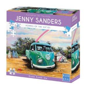 Jenny Sanders - Green Kombi Ute 1000 Piece Puzzle - Blue opal
