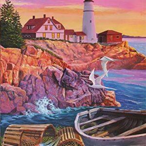 Lighthouse Cove 1000 Piece Puzzle - Cobble HIll