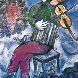 Marc Chagall - The Blue Violinist 1000 Piece Jigsaw Puzzle - Eurographics