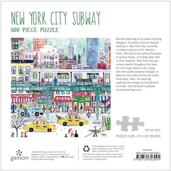 Michael Storrings - New York City Subway 500 Piece Jigsaw Puzzle - Galison