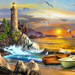 Perfect Places - The Lighthouse 1000 Piece Jigsaw Puzzle - Funbox