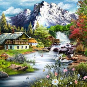Perfect Places - The Mountain View 1000 Piece Jigsaw Puzzle - Funbox