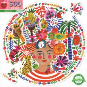 Positivity Freda 500 Piece Round Jigsaw Puzzle - eeBoo